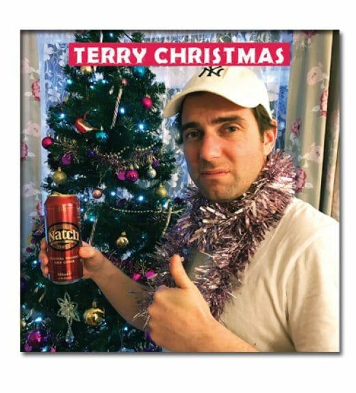 Terry Greeting Xmas Shop Card